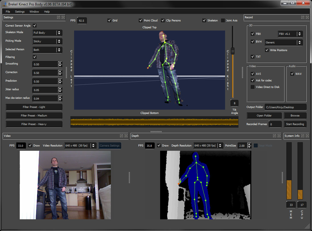 Affordable Motion Capture Tools » Brekel